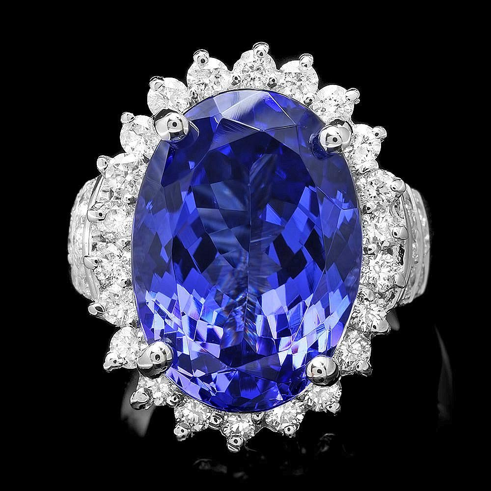 18k Gold 14ct Tanzanite 1.50ct Diamond Ring