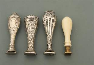 Vier Petschaften - um 1900