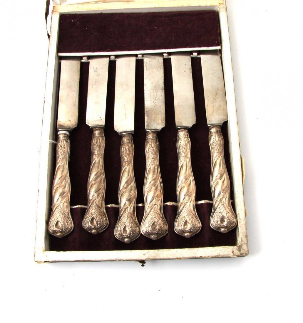 4: Sechs Obstmesser, Biedermeier um 1850