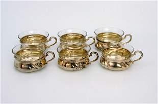 Sechs Teegläser 50er Jahre