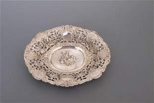 Ovale Schale, 800er Silber