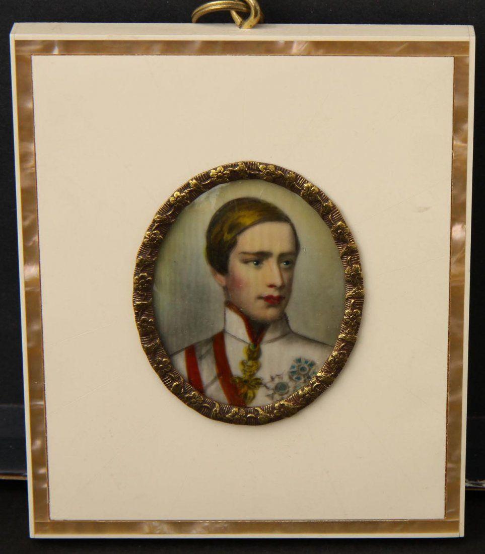 749: Miniaturbildnis Kaiser Franz Josef