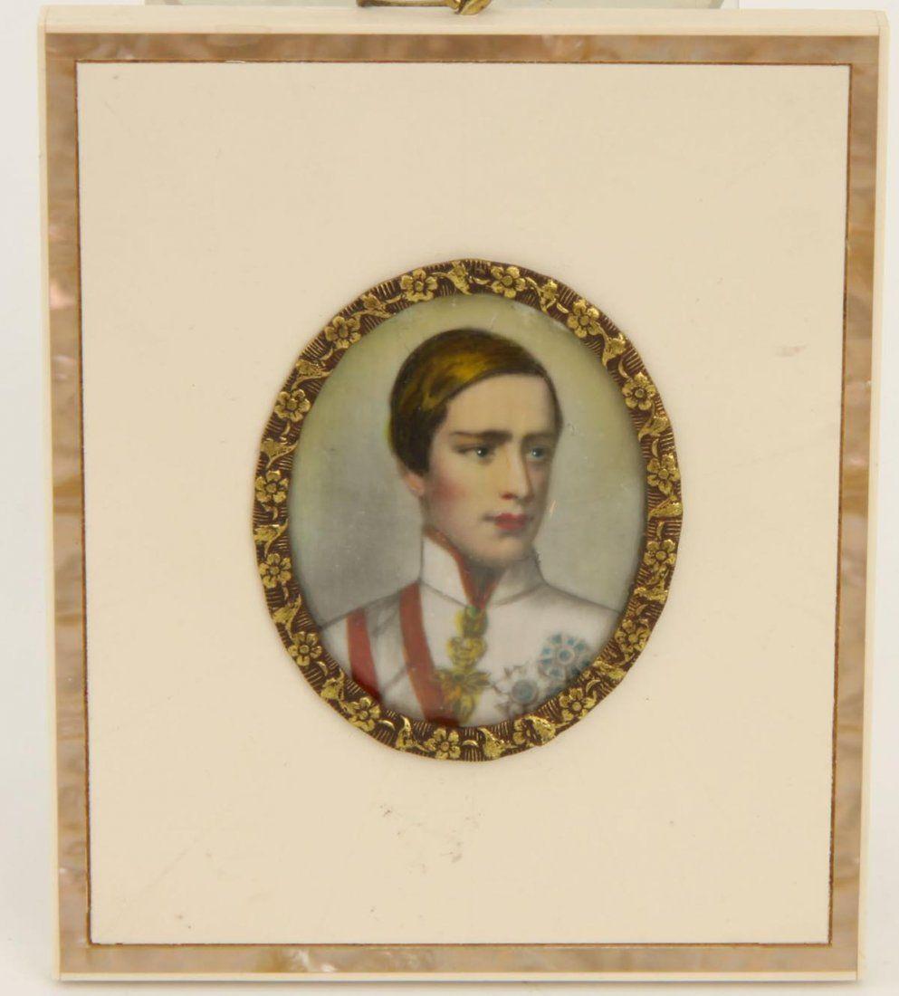 Miniaturbildnis Kaiser Franz Josef von Österreich