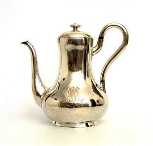 Silberne Kaffeekanne, Gotha od.Güstrow 18. Jh.
