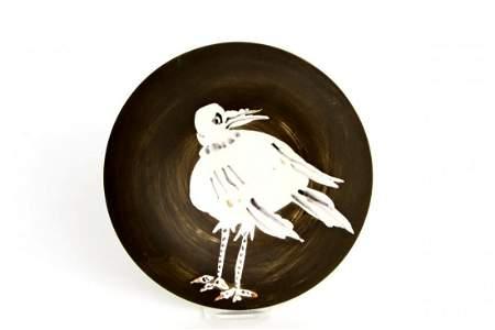 Pablo Picasso - Künstlerteller mit Vogel, No. 93