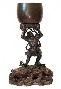 Weltwächter m. Klangschale,China um 1800