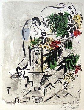 "Marc CHAGALL, Signed Original Lithograph, ""Affiche P"