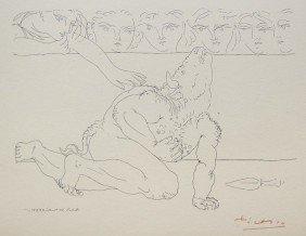 Pablo PICASSO; Suite Vollard; Minotaure Mourant