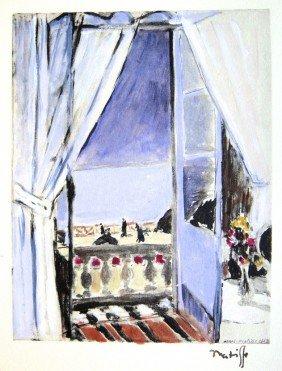 "9: Henri MATISSE; Hand colored original lithograph; ""Ni"