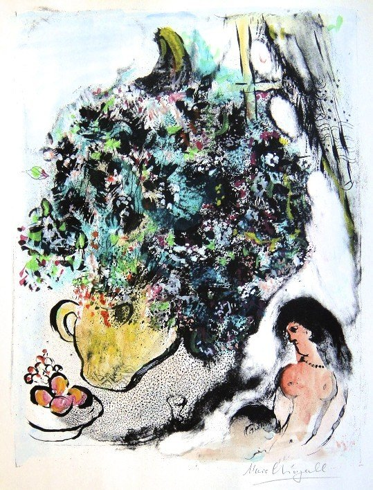 "11: Marc CHAGALL, Hand Colored Original Lithograph, ""Co"