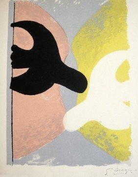 """GEORGES BRAQUE, """"R�surrection De L'Oiseau""""  Signed"""