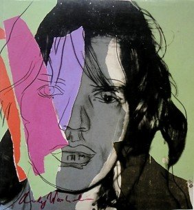 15: Andy WARHOL, Hand Signed Print, Mick Jagger