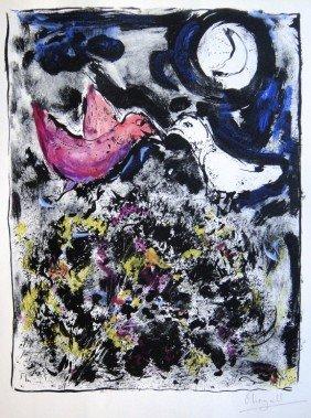 "19: Marc CHAGALL, Hand Colored Original Lithograph, ""Le"