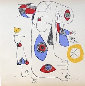 """84: JOAN MIRO, Hand Signed Lithographie, """"Suite II"""" 195"""