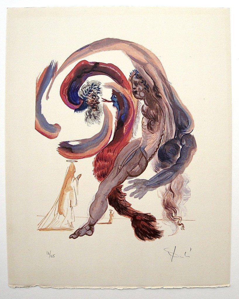 1: Salvador DALI; Original Woodcut - Signed and numbere