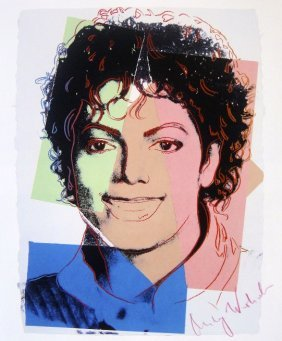 5: ANDY WARHOL, Special Print hand signed, M. Jackson