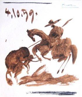 "6: PABLO PICASSO, Hand signed Lithograph ""Die Kinder un"