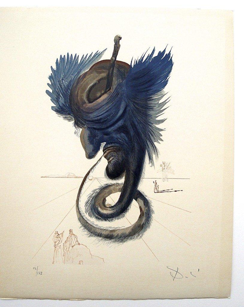 7: Salvador DALI; Original Woodcut - Signed and numbere