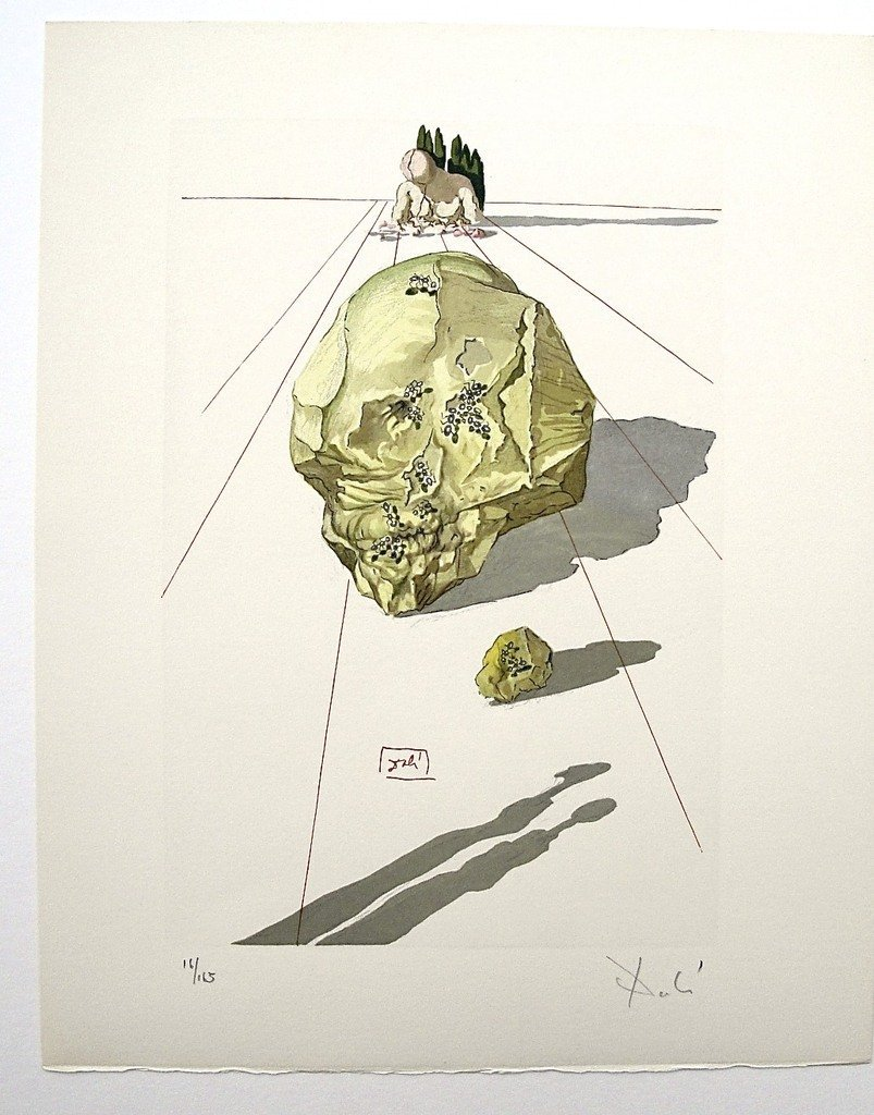 8: Salvador DALI; Original Woodcut - Signed and numbere