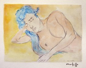 "9: HENRI MATISSE, Hand Colored Original Lithograph, ""De"