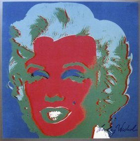 10: Andy WARHOL, Hand Signed Print, Marilyn