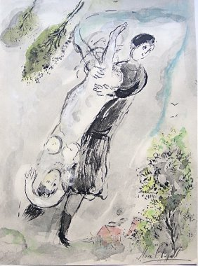 Marc CHAGALL, CONTES DE BOCCACE; Hand Signed Lithog