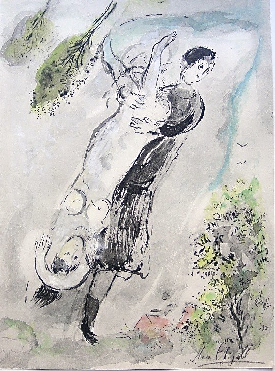 13: Marc CHAGALL, CONTES DE BOCCACE; Hand signed Lithog