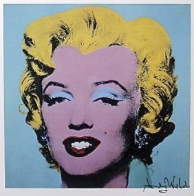 53: ANDY WARHOL, Special Print hand signed, Marilyn 198