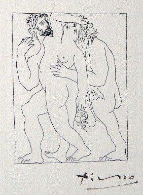 2: PABLO PICASSO, Signed Original Lithograph Les Metamo