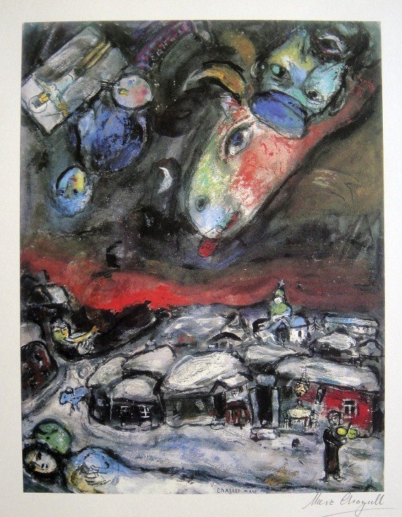 3: MARC CHAGALL, Hand Signed Lithograph, 1975