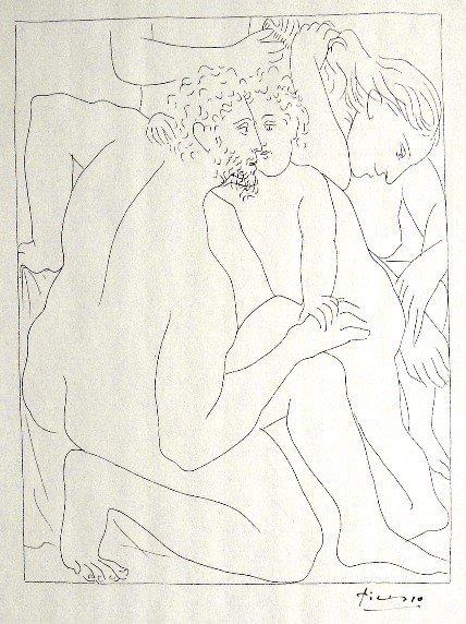 10: PABLO PICASSO, Signed Original Lithograph Les Metam