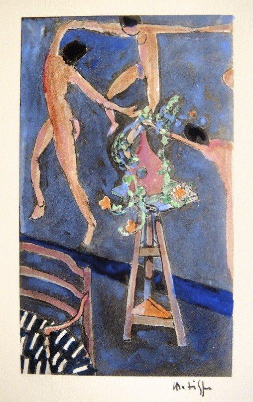 21: HENRI MATISSE, Hand Colored Original Lithograph, Le