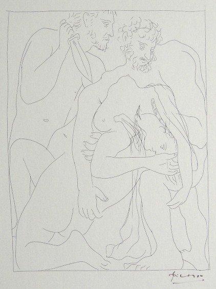 75: PABLO PICASSO, Signed Original Lithograph Les Metam