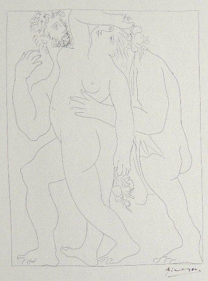 76: PABLO PICASSO, Signed Original Lithograph Les Metam