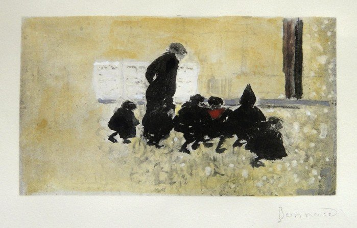 77: PIERRE BONNARD, hand colored and hand signed Lithog