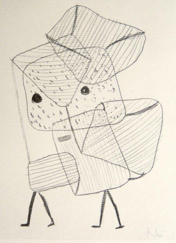 "79: Paul KLEE; Original Lithograph; ""Beladene Kinder""."