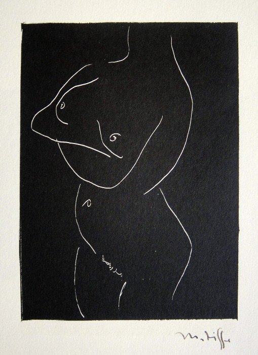 "82: HENRI MATISSE, Signed Lithograph ""Nu"""