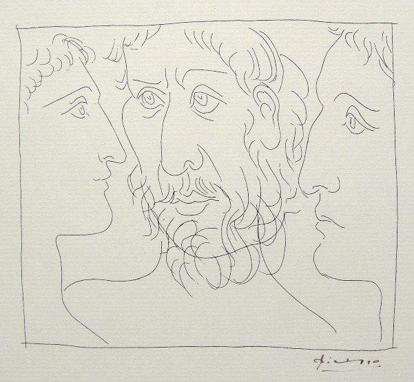 86: PABLO PICASSO, Signed Original Lithograph Les Metam