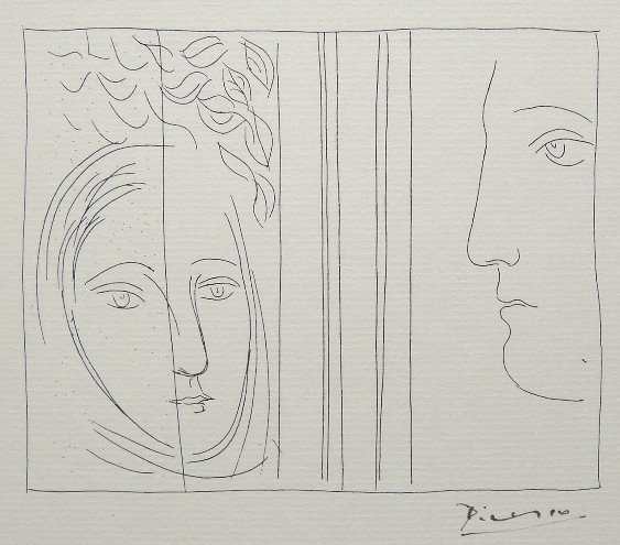 87: PABLO PICASSO, Signed Original Lithograph Les Metam