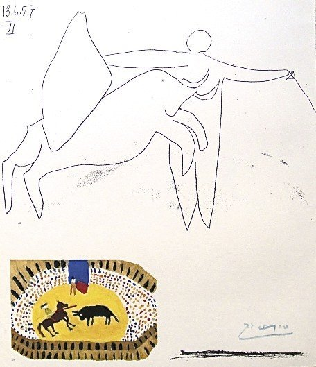 96: PABLO PICASSO, Hand Signed Lithograph, The Children