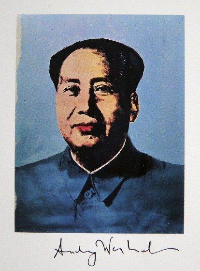 6: ANDY WARHOL, Signed Print, Mao Tse Tung