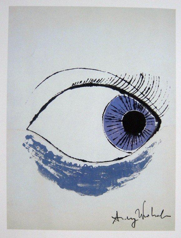 9: ANDY WARHOL, Signed Print, Eye