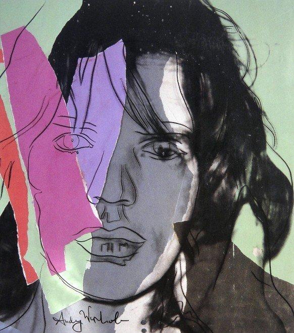 14: ANDY WARHOL, Signed Print, Mick Jagger