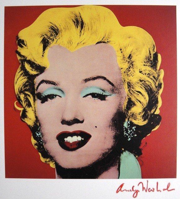 17: ANDY WARHOL, Signed Print, Marilyn Monroe