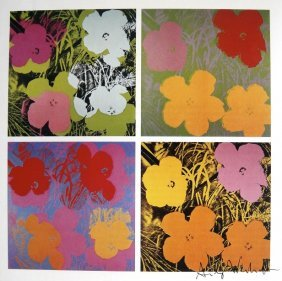 ANDY WARHOL, Signed Print, Flowers