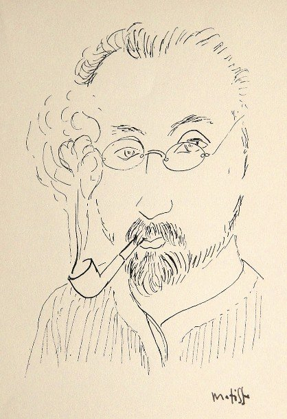 """93: HENRI MATISSE, Signed Lithograph """"Homme"""""""