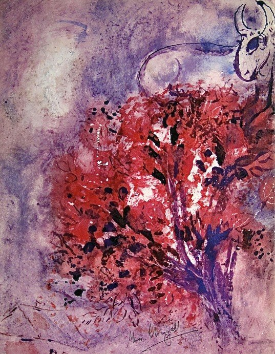74: MARC CHAGALL, Hand signed Lithograph, 1957