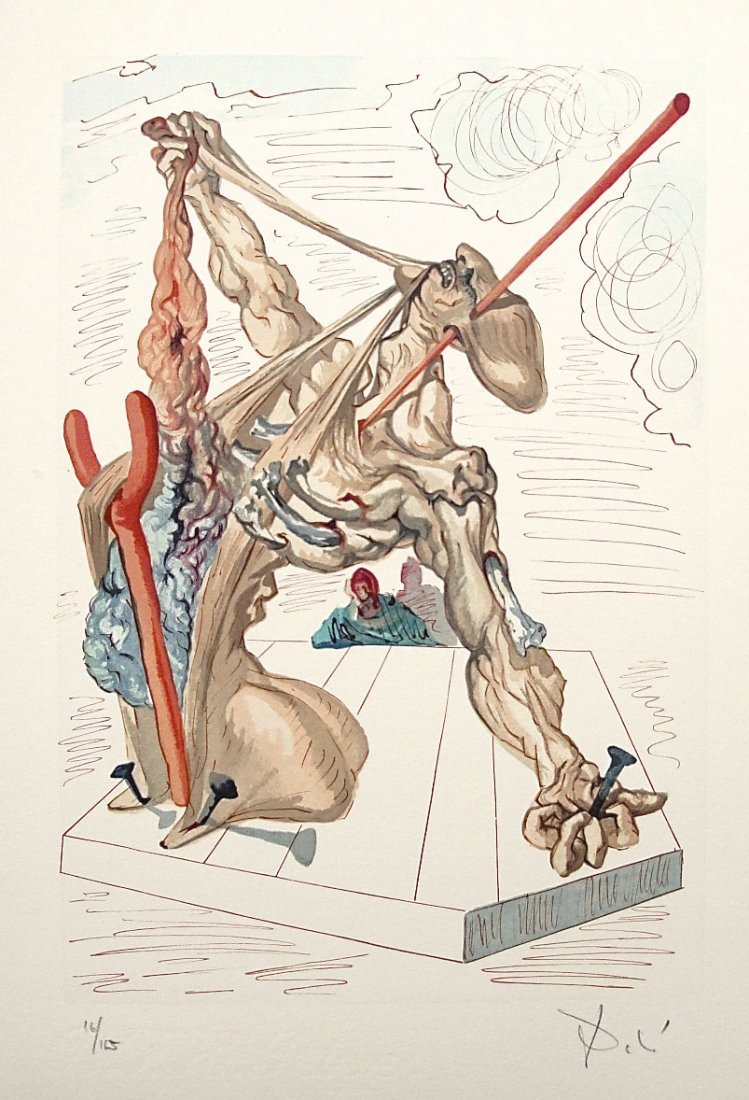 "81: ""Salvador DALI; Original Woodcut - Signed and numbe"
