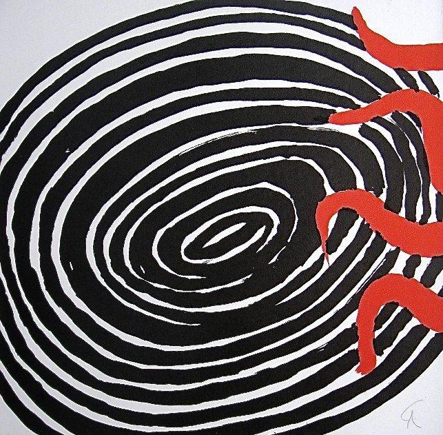 15: Alexander CALDER, Signed Lithograph, 1965