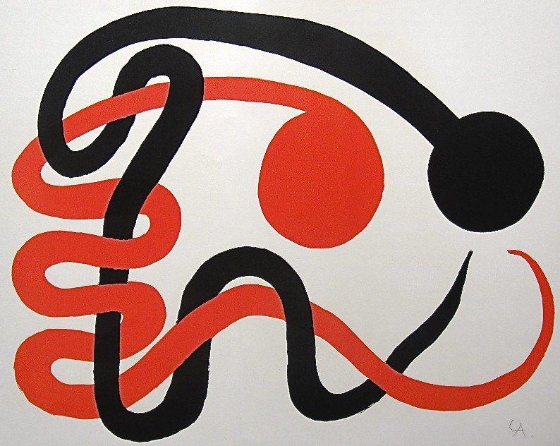 16: Alexander CALDER, Signed Lithograph, 1965
